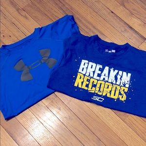 Set of 2 Boys Under Armour Shirts
